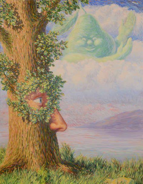 René Magritte, Alice au pays des merveilles [Alice im Wunderland], 1946, Öl/Lw, 146,8 × 114,3 cm (Privatsammlung Adagp Images, Paris, 2021)