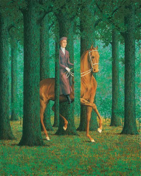 René Magritte, Carte blanche, 1965 (National Gallery of Art, Washington, Collection of Mr. and Mrs. Paul Mellon © René Magritte, VEGAP, Madrid, 2021)