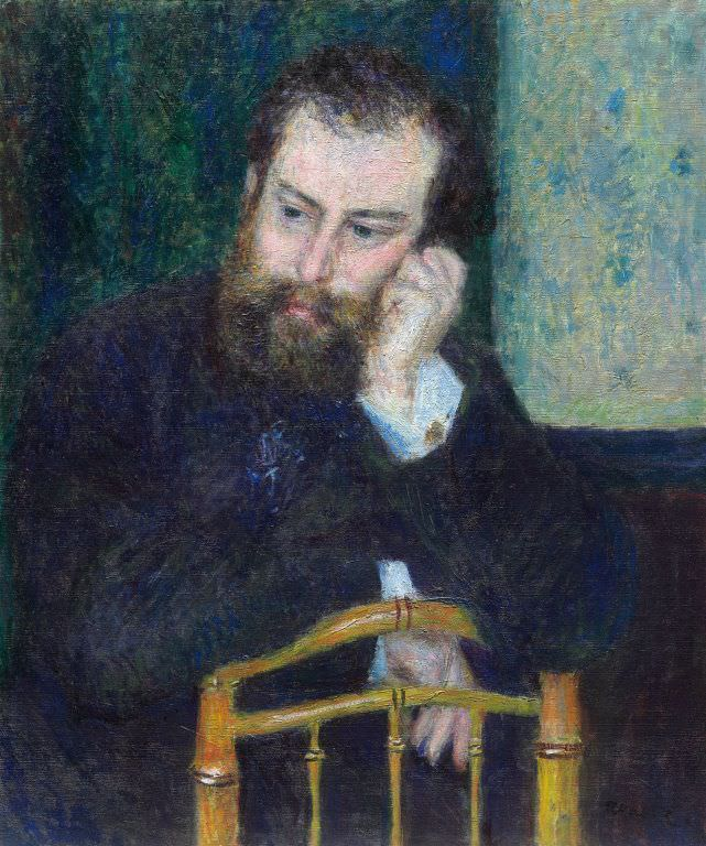 Pierre-Auguste Renoir, Alfred Sisley, 1876, Öl auf Leinwand, 66.2 x 54.8 cm (The Art Institute of Chicago, Mr. and Mrs. Lewis Larned Coburn Memorial Collection, 1933.453)
