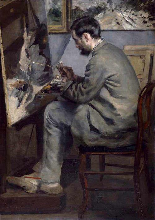 """Renoir, Bazille malt """"Der Reiher"""""""