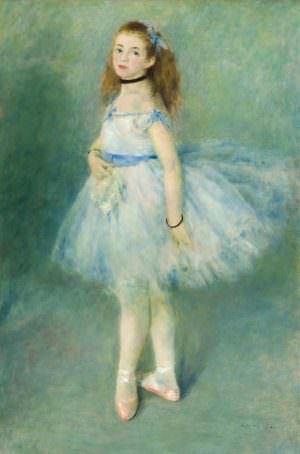 Pierre-Auguste Renoir, Danseuse [Tänzerin], 1874, Öl auf Leinwand, 142.5 x 94.5 cm (The National Gallery of Art, Washington, Widener Collection)