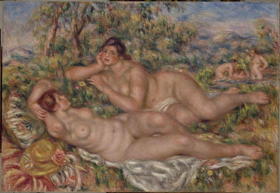 Pierre-Auguste Renoir, Les Baigneuses [Die Badende], 1918–1919, Öl/Lw, 110 x 160 cm (Paris, Musée d'Orsay, Foto © RMN-Grand Palais (Musée d'Orsay) / Hervé Lewandowski)