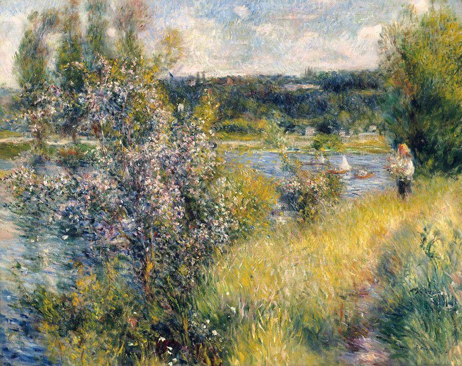 Pierre-Auguste Renoir, Die Seine bei Chatou, um 1881, Öl auf Leinwand (Museum of Fine Art, Boston)
