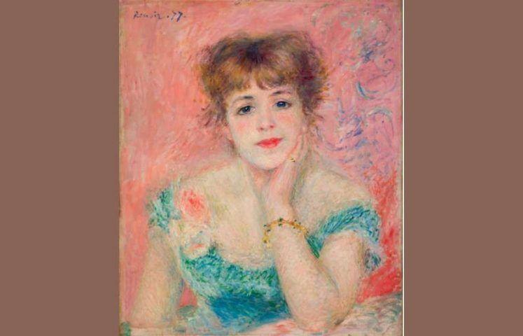 Pierre-Auguste Renoir, Porträt von Jeanne Samary, 1877 (Puschkin-Museum, Moskau)
