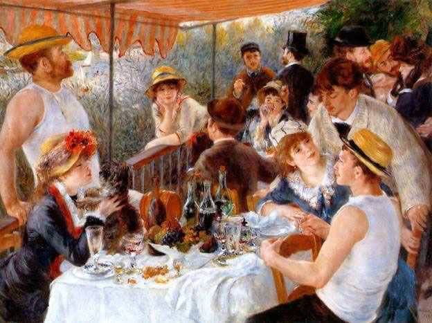 Pierre-Auguste Renoir, Mittagessen in Bougival, 1880-1881, Öl auf Leinwand, 129,5 x 172,7 cm (Phillips Collection, Washington)