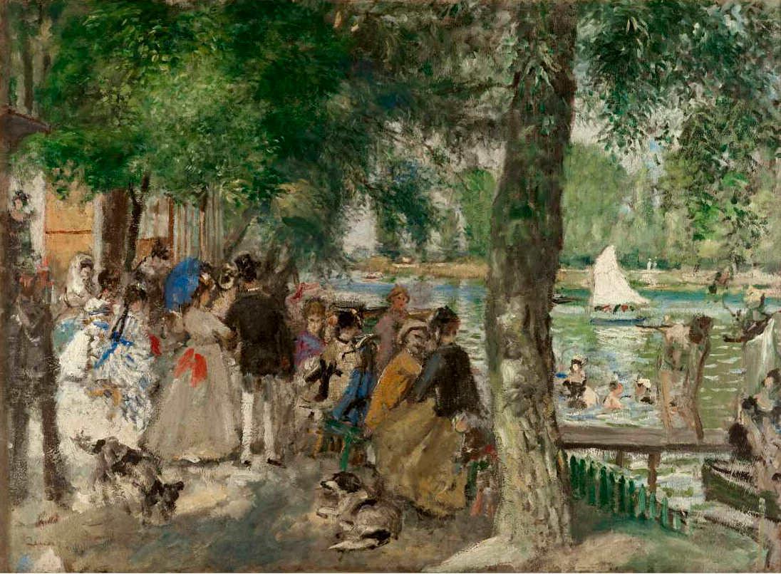 Pierre-Auguste Renoir, La Grenouillère [Badende an der Seine], 1869, Öl auf Leinwand, 59 × 80 cm (© The State Pushkin Museum of Fine Arts, Moskau, D114)