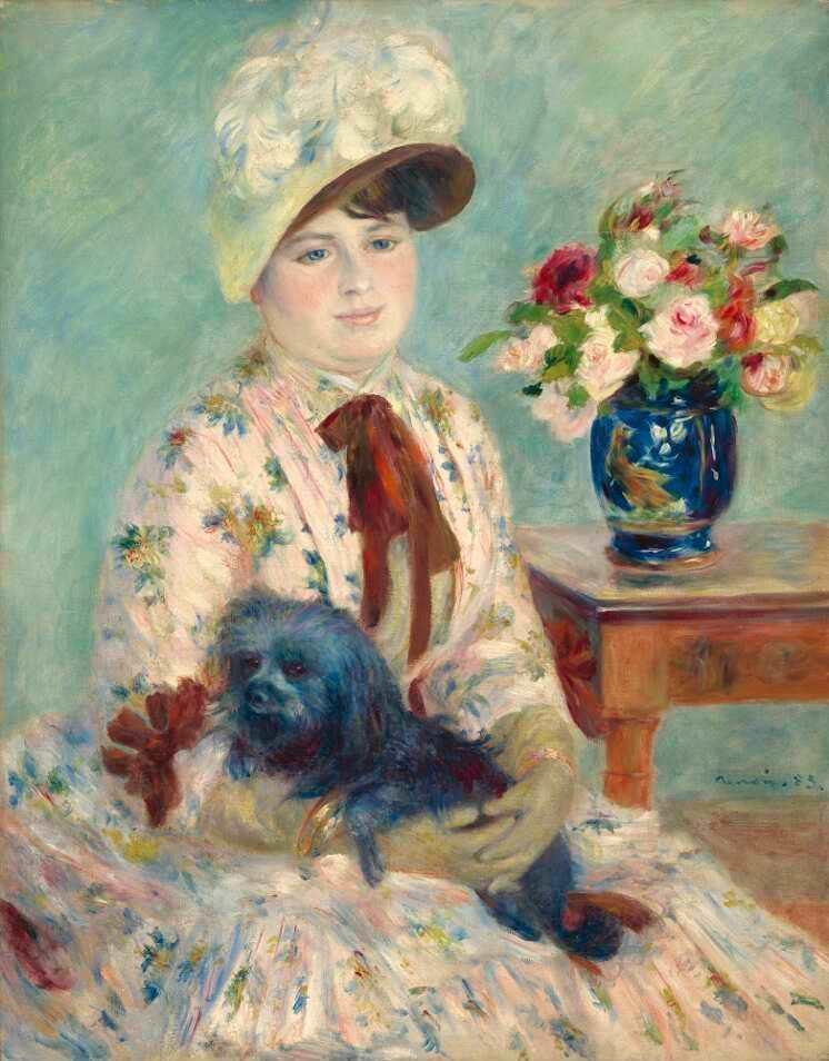 Pierre-Auguste Renoir, Mlle Charlotte Berthier, 1883, Öl auf Leinwand, 92.1 × 73 cm (Washington, DC, National Gallery of Art, Gift of Angelika Wertheim Frink, 1969.10.1 D1064)