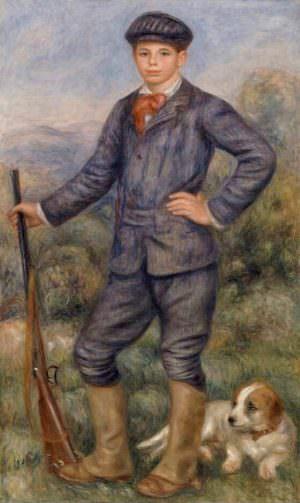 Pierre-Auguste Renoir, Jean als Jäger, 1910, Öl auf Leinwand, 172.7 × 88.9 cm (Los Angeles, Los Angeles County Museum of Art. Gift through the generosity of the late Mr. Jean Renoir and Madame Dido Renoir D3465)