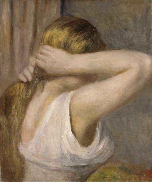 Pierre-Auguste Renoir, Junge Frau mit erhobenen Armen, um 1895, Öl auf Leinwand, 46.3 × 38.2 cm (Bremen, Kunsthalle Bremen – Der Kunstverein in Bremen, Foto: Jaren Blidow)