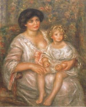 Pierre-Auguste Renoir, Madame Thurneyssen und ihre Tochter, 1910, Öl auf Leinwand, 100 × 81 cm (Buffalo, New York, Collection of the Albright-Knox Art Gallery, General Purchase Funds, 1940 D3139 © Albright-Knox Art Gallery / Art Resource, NY / Scala, Florence)