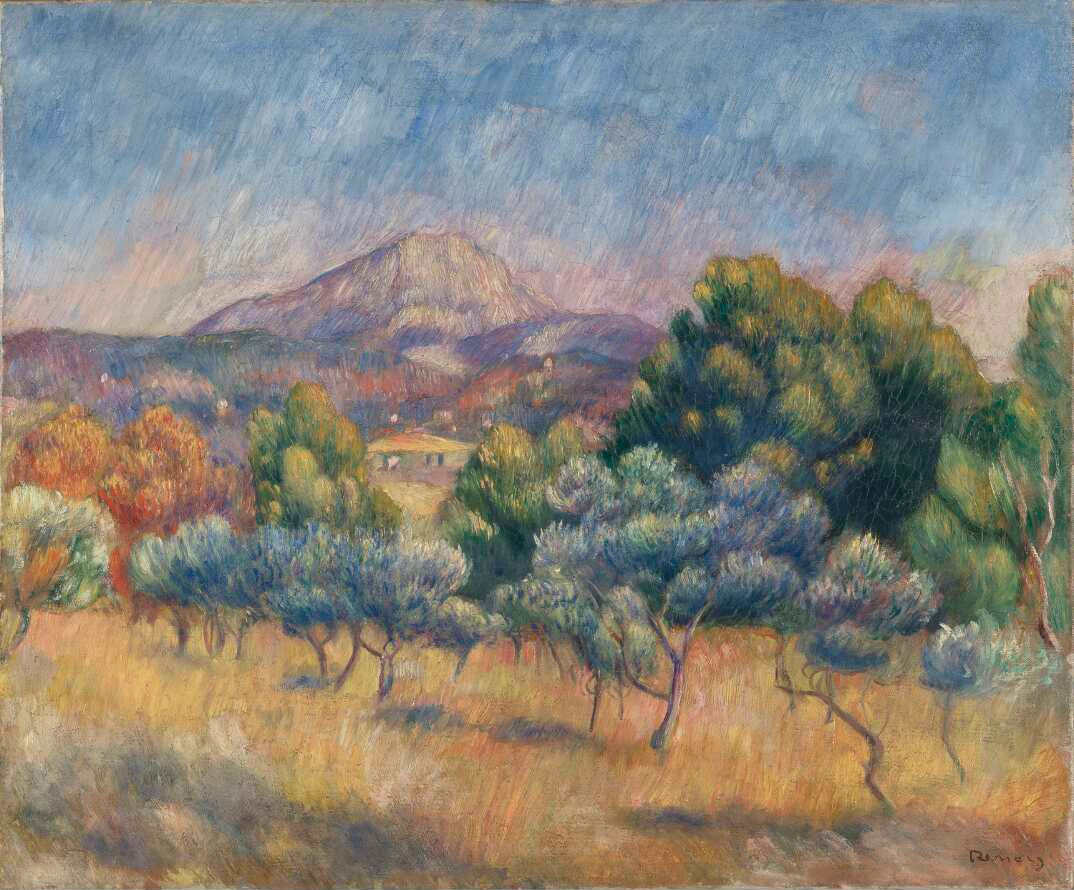 Pierre-Auguste Renoir, Mont Sainte-Victoire, um 1888/89, Öl auf Leinwand, 53 × 64.1 cm (New Haven, Yale University Art Gallery, Katharine Ordway Collection D921)
