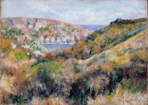 Pierre-Auguste Renoir, Hügel um die Bucht von Moulin Huet, Guernsey, 1883, Öl auf Leinwand, 46 × 65.4 cm (New York, The Metropolitan Museum of Art. Bequest of Julia W. Emmons, 1956, 56.135.9 D840)