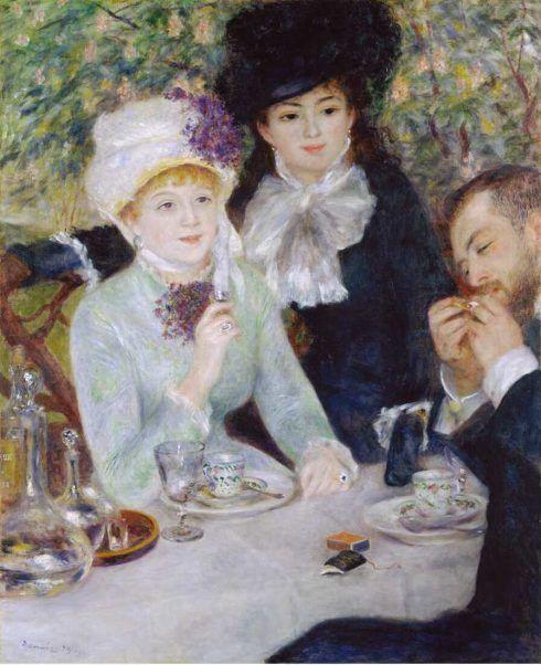 Pierre-Auguste Renoir, Nach dem Frühstück, 1879, Öl auf Leinwand, 100.5 × 81.3 cm (Frankfurt am Main, Städel Museum D219 © Städel Museum - U. Edelmann - ARTOTHEK)