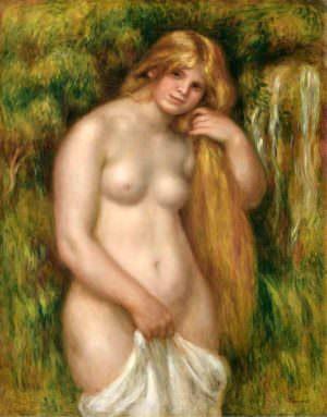 Pierre-Auguste Renoir, Die Quelle, 1906, Öl auf Leinwand, 92 × 73 cm (Zürich, Foundation E. G. Bührle Collection D3523/SIAR J. P. Kuhn)
