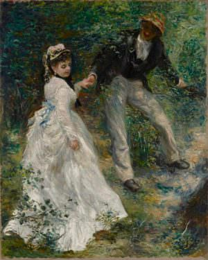 Pierre-Auguste Renoir, Der Spaziergang, 1870, Öl auf Leinwand, 81.3 × 64.8 cm (Los Angeles, The J. Paul Getty Museum, 89.PA.41 D257)