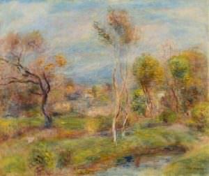 Pierre-Auguste Renoir, Der Teich. Cagnes (Landschaft bei Cagnes-sur-Mer), 1905–1907, Öl auf Leinwand, 46 × 55 cm (Saint-Jean-Cap-Ferrat, Villa Ephrussi de Rothschild, Académie des Beaux-Arts D2960)