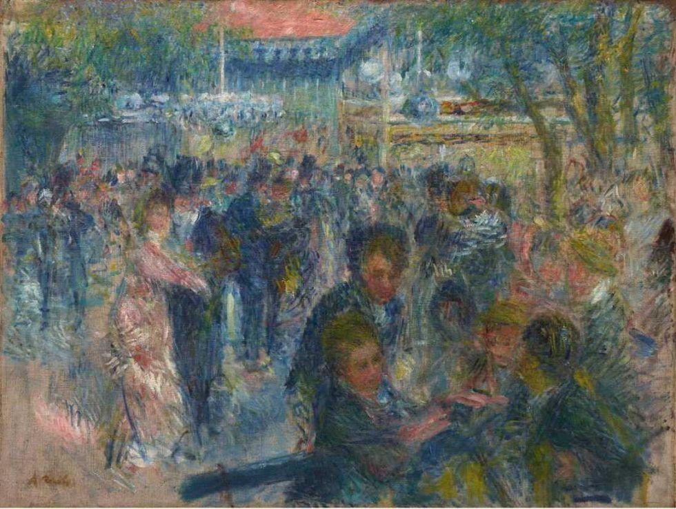 Pierre-Auguste Renoir, Le bal du Moulin de la Galette (Esquisse) [Der Tanz im Moulin de la Gallette (Entwurf)], 1875/76, Öl auf Leinwand, 65 × 85 cm (Copenhagen, Ordrupgaard D210, Foto: Anders Sune Berg)