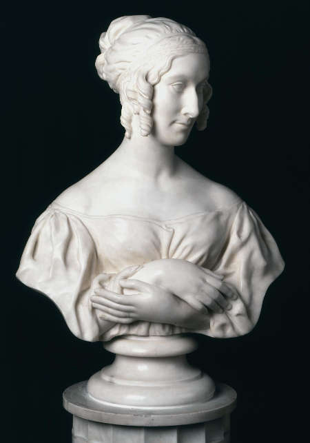 Richard Cockle Lucas, Lady Stepney als Kleopatra, um 1836, Marmor, Höhe 67.3 cm (V & A Museum, London, Inv.-Nr. A.9-1964)