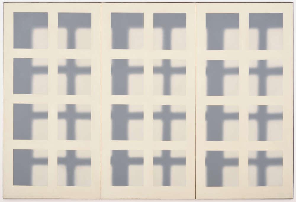 Gerhard Richter, Fenstergitter (CR 207), 1968, Öl auf Leinwand, 200 x 300 cm (Ludwig Museum – Museum of Contemporary Art, Budapest © Gerhard Richter, Foto: József Rosta / Ludwig Museum – MoCA, Budapest)