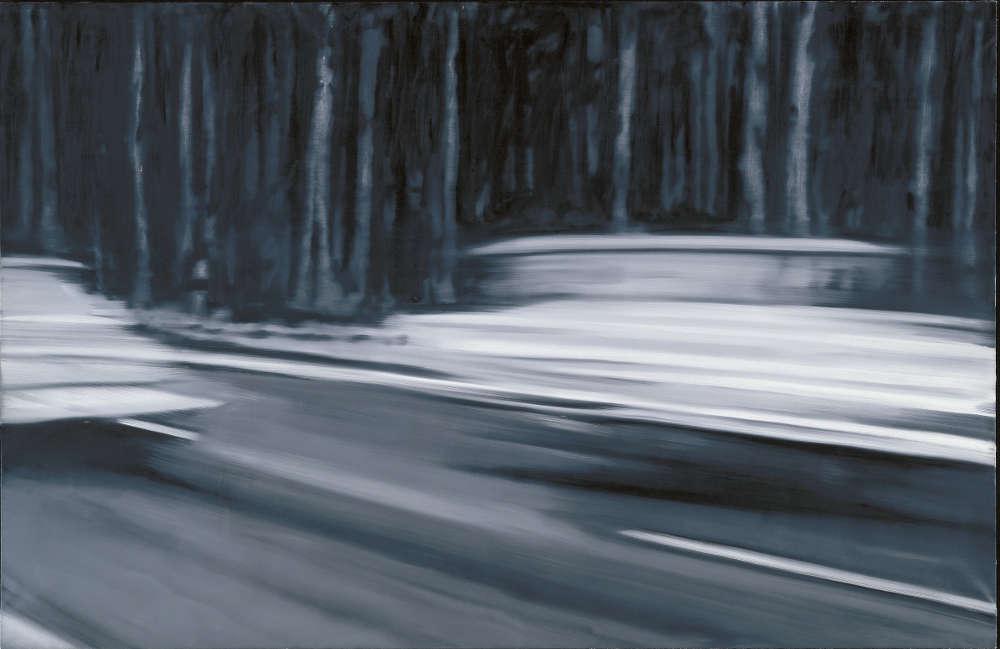 Gerhard Richter, Gerhard Richter, Zwei Fiat (CR 67), 1964, Öl auf Leinwand, 130 x 200 cm (Museum Frieder Burda, Baden-Baden © Gerhard Richter)