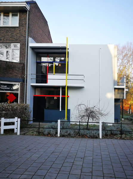 Gerrit Thomas Rietveld, Tuus Schröder, Rietveld-Schroeder-Haus, Utrecht, 1924, Seitenansicht, Foto: Alexandra Matzner, ARTinWORDS.