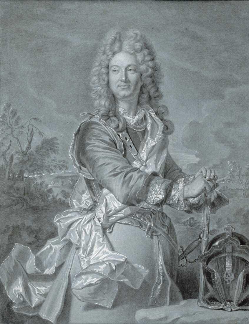 Hyacinthe Rigaud, Porträt eines französischen Marschalls, um 1740 (Albertina, Wien)