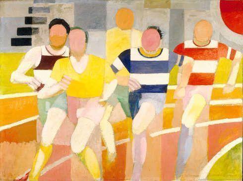 Robert Delaunay, Die Läufer, 1924–1925, Öl/Lw, 153 x 203 cm (Privatsammlung)