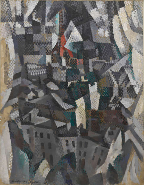Robert Delaunay, Die Stadt, 1911 (Solomon R. Guggenheim Museum, New York, Solomon R. Guggenheim Founding Collection)