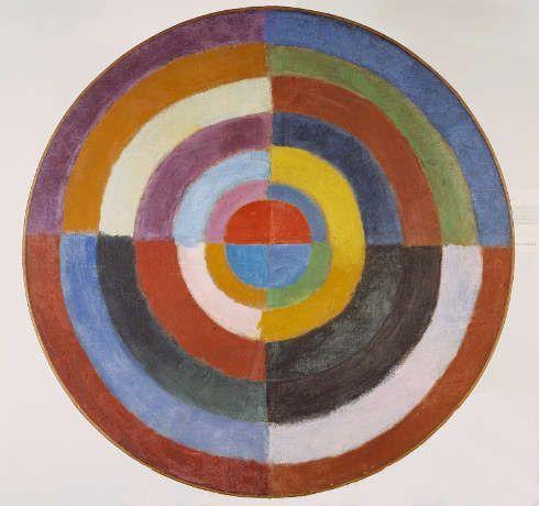 Robert Delaunay, Disque (Le premier disque), 1913, Öl/Lw, Durchmesser 124 cm (Esther Grether Familiensammlung)