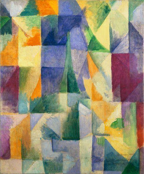 Robert Delaunay, Fenêtres ouvertes simultanément (1ère partie, 3ème motif), 1912, Öl/Lw, 45,7 x 37,5 cm (Tate: Ankauf 1967, Foto: © Tate, London, 2018)