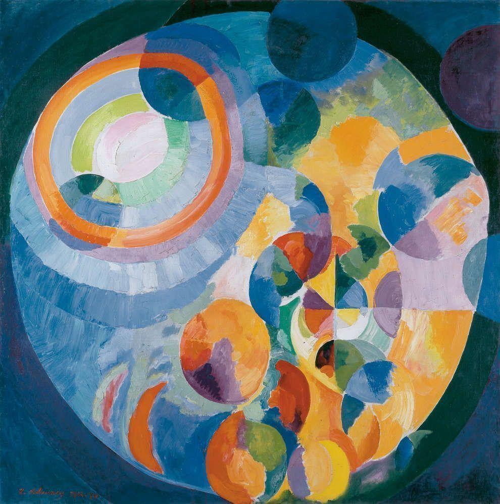 Robert Delaunay, Formes circulaires. Soleil, lune, 1913–1931, Öl/Lw, 200 x 197 cm (Kunsthaus Zürich)