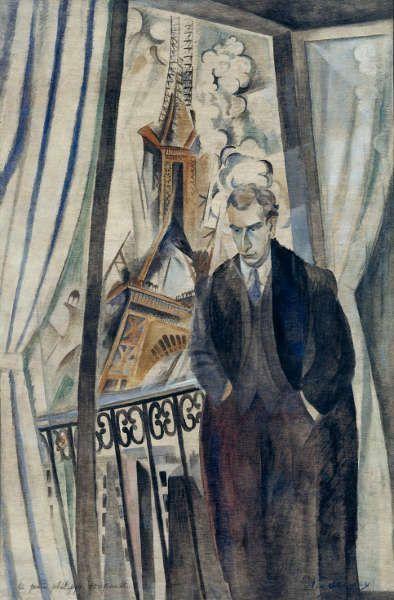 Delaunay Robert, Der Dichter Philippe Soupault, 1922 (Paris, Centre Pompidou - Musée national d'art moderne - Centre de création industrielle. AM1978-323)