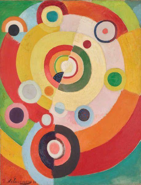 Robert Delaunay, Rythmes: Joie de Vivre, 1930, Öl/Lw, 146 x 130 cm (Privatsammlung)
