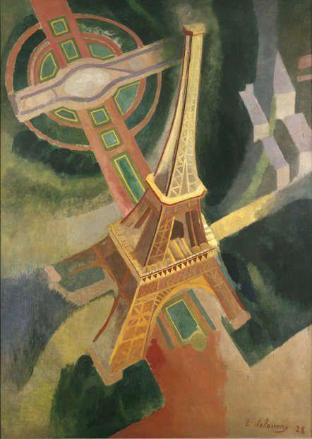 Robert Delaunay, Tour Eiffel, 1928, Öl auf Leinwand, 364 x 266,5 cm (© Staatliche Museen zu Berlin, Nationalgalerie / Foto: Volker-H. Schneider)