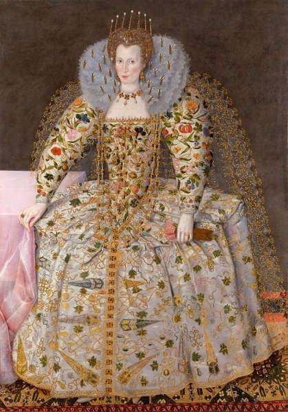 Robert Peake, Catherine Carey, Countess of Nottingham, um 1597, Öl/Lw, 198,1 x 137,2 cm (Privatsammlung, Courtesy of The Weiss Gallery, London)