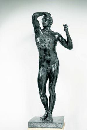 Auguste Rodin, Das Eherne Zeitalter, 1877, Bronze, Sandguss, 180,5 x 68,5 x 54,5 cm (Musée Rodin, Paris)