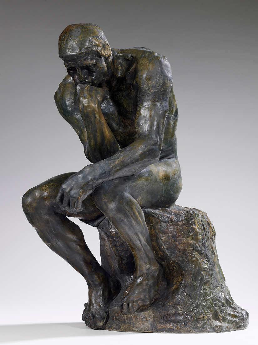 Auguste Rodin, Der Denker (mittleres Modell), um 1880, bronzierter Gips, 72 x 37 x 57,5 cm (Musée Rodin, Paris Foto: Christian Baraja)