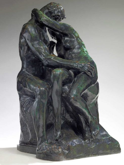 Auguste Rodin, Der Kuss, 1887, Bronze, Sandguss, 85,5 x 51 x 54,5 cm (Musée Rodin, Paris Foto: Christian Baraja)