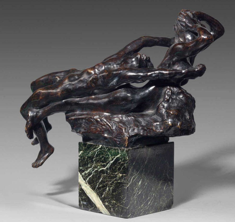 Auguste Rodin, Fliehende Liebe, vor 1887, Bronze auf Marmorsockel, Sandguss, 44 x 46 x 33 cm (Musée Rodin, Paris Foto: Herve Lewandowski)