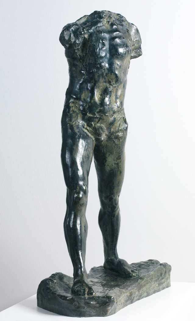 Auguste Rodin, Schreitender Mann (von vorne), 1900, Bronze, 85 x 27,5 x 60 cm (Von der Heydt-Museum Wuppertal Foto: Medienzentrum/Antje Zeis-Loi)