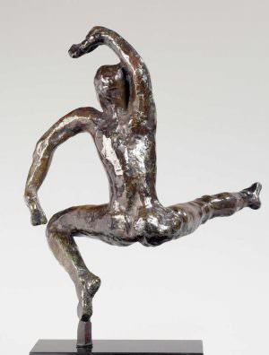 Auguste Rodin, Tanzstudie F, um 1911 (Guss 1952), Bronze, Sandguss, 33 x 22,5 x 20,6 cm (Musée Rodin, Paris Foto: Christian Baraja)