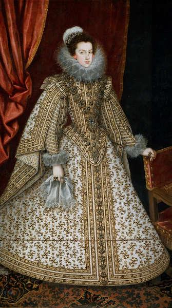 Rodrigo de Villandrando, Isabella von Bourbon, Ehefrau von Philipp IV., um 1620, Öl/Lw, 210 x 115 cm (Museo Nacional del Prado, Madrid)