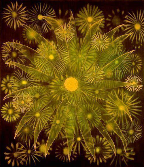 Ross Bleckner, Loons to Sandpipers, 1996, Öl auf Leinwand, 212 x 183 cm (Sammlung Siegfried und Jutta Weishaupt, Courtesy Galerie Nikolaus Ruzicska, Salzburg Foto: Ulrich Ghezzi)