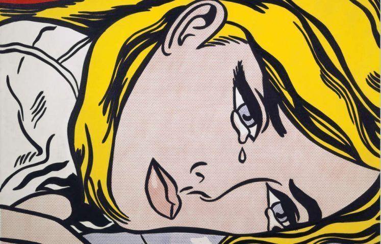 Roy Lichtenstein, Hopeless, Detail, 1963. Acryl auf Leinwand, 177,8 x 152,4 cm (© Estate of Roy Lichtenstein & VG Bild-Kunst, Bonn 2019, Foto: Kunstmuseum Basel, Martin P. Bühler, Courtesy: Kunstmuseum Basel, Leihgabe der Peter und Irene Ludwig Stiftung)