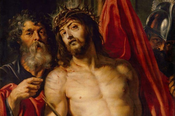 Peter Paul Rubens, Ecce homo, Detail, 1612, Öl auf Holz, 125,7 x 96,5 cm (Eremitage, St. Petersburg)