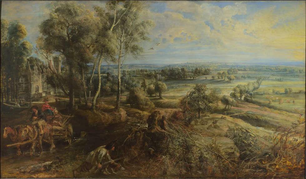Peter Paul Rubens, Eine Ansicht von Het Steen im frühen Morgen, 1636, Öl/Eiche, 131.2 × 229.2 cm (National Gallery, London)