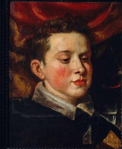 Peter Paul Rubens, Ferdinando Gonzaga, Infant von Mantua (Fragment der Pala der Familie Gonzaga in Anbetung der Trinität), 1604/05, Öl/Lw 48 x 38,2 cm (Traversetolo, Parma, Fondazione Magnani Rocca © 2017. Photo Scala, Florence)
