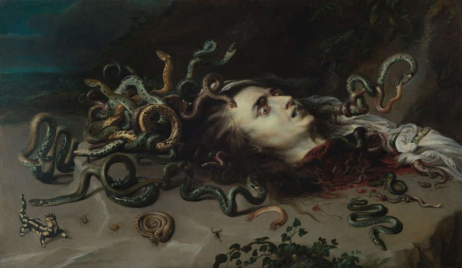 Peter Paul Rubens, Haupt der Medusa, um 1617/18, Öl/Eichenholz, 68,5 x 118 cm (© KHM -Museumsverband)