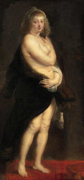 "Peter Paul Rubens, Helena Fourment (""Das Pelzchen""), um 1636/1638, Öl auf Eichenholz, 176 x 83 cm (© KHM - Museumsverband)"