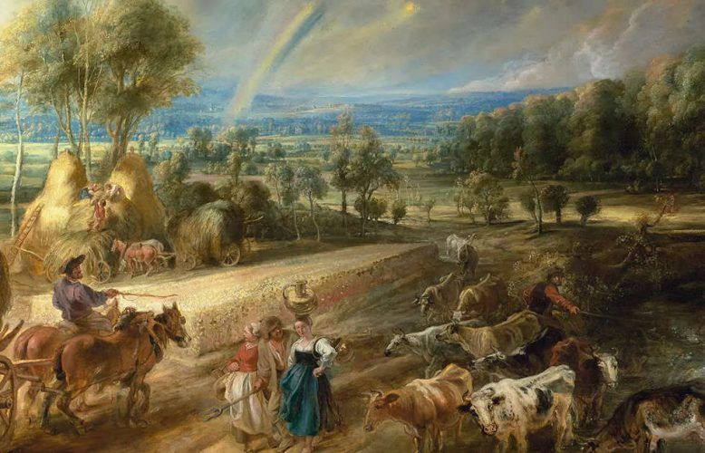 Peter Paul Rubens, Landschaft mit Regenbogen, Detail, um 1636, Öl/Eiche, 135.6 x 235 cm (Wallace Collection, London)
